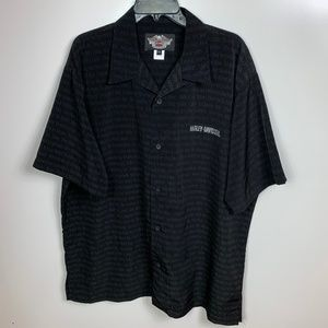 Harley Davidson Short Sleeve Button Down Shirt xxl